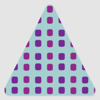 Purple Squares Triangle Sticker