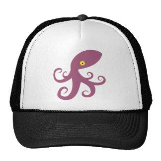 Purple Squid Mesh Hat