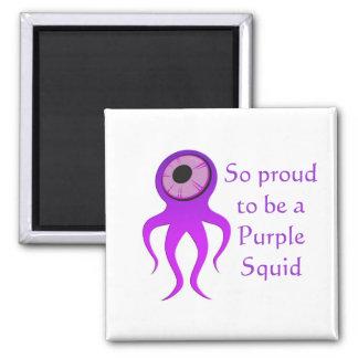 Purple Squid Magnet
