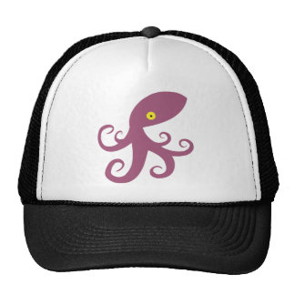 Purple Squid Trucker Hat