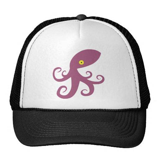 Purple Squid Trucker Hat