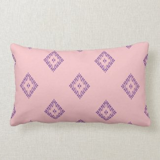 Purple Squiggle Diamond Design on Pink/Any Color Throw Pillows