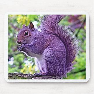 Purple Squirrel Mouse Pad