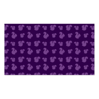 Purple squirrel pattern Double-Sided standard business cards (Pack of 100)