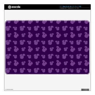 Purple squirrel pattern MacBook skin