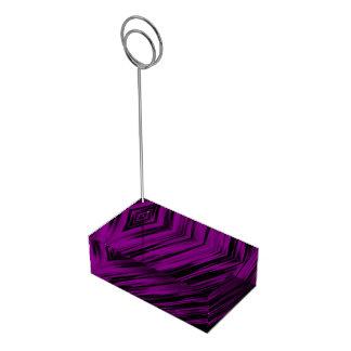 Purple Sreaks Table Card Holders
