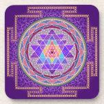 Purple Sri Yantra Coasters
