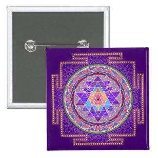 Purple Sri Yantra Pinback Button