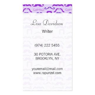 Purple Stache Business Card