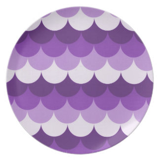 Purple Stacked Circles Dinner Plate