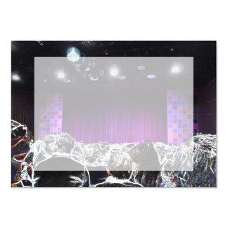 Purple stage solarized theater design 5x7 paper invitation card