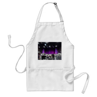 Purple stage solarized theater design adult apron