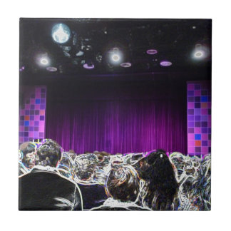 Purple stage solarized theater design ceramic tile