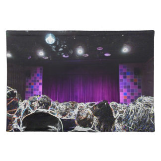 Purple stage solarized theater design cloth placemat