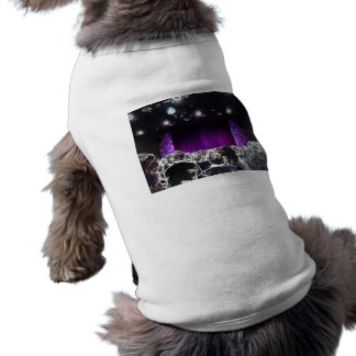 Purple stage solarized theater design dog t shirt