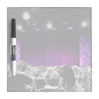 Purple stage solarized theater design Dry-Erase board