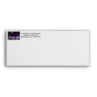 Purple stage solarized theater design envelope