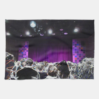 Purple stage solarized theater design hand towels