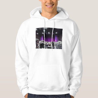 Purple stage solarized theater design hoody