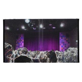 Purple stage solarized theater design iPad case