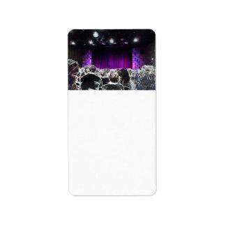 Purple stage solarized theater design custom address labels