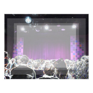 Purple stage solarized theater design letterhead