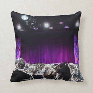 Purple stage solarized theater design throw pillow