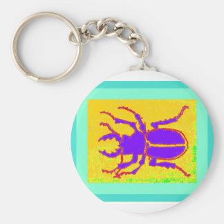 Purple Staghorn Beetle by Sharles Keychain