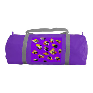 Purple stained duffle gym bag. duffle bag