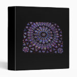 Purple Stained Glass Church Window 3 Ring Binder