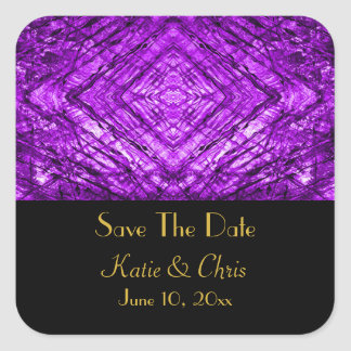 Purple Stained Glass kaleidoscope Texture Square Sticker
