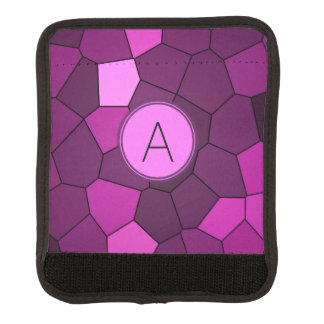 Purple Stained Glass Mosaic Luggage Handle Wrap