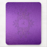 Purple Stained Glass Mouse Pad