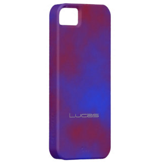 Purple Stained iPhone 5 case for Lucas