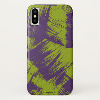 Purple Stains iPhone X Case