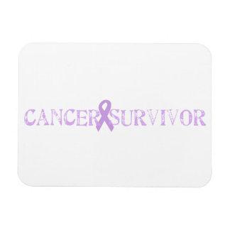 Purple Stamp Survivor Magnet