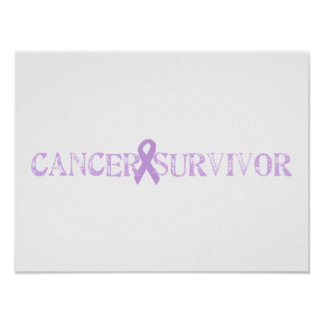 Purple Stamp Survivor Poster