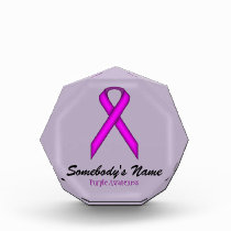 Purple Standard Ribbon Acrylic Award