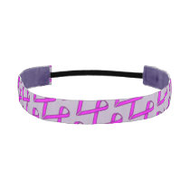 Purple Standard Ribbon Athletic Headband