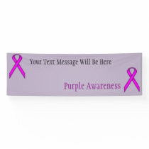 Purple Standard Ribbon Banner