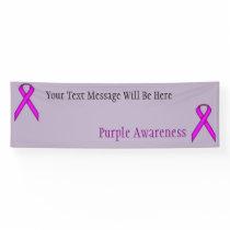 Purple Standard Ribbon Banner