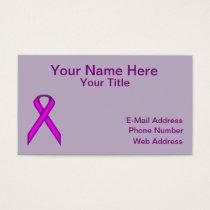 Purple Standard Ribbon Business Card