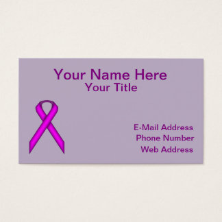 Purple Standard Ribbon Business Card