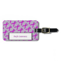 Purple Standard Ribbon by Kenneth Yoncich Bag Tag