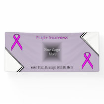 Purple Standard Ribbon by Kenneth Yoncich Banner