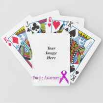 Purple Standard Ribbon by Kenneth Yoncich Bicycle Playing Cards