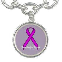 Purple Standard Ribbon by Kenneth Yoncich Bracelet
