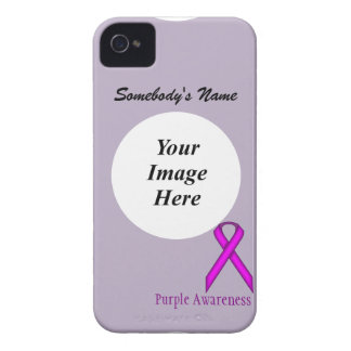 Purple Standard Ribbon by Kenneth Yoncich Case-Mate iPhone 4 Case