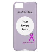 Purple Standard Ribbon by Kenneth Yoncich Cover For iPhone 5C