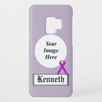 Purple Standard Ribbon by Kenneth Yoncich Case-Mate Samsung Galaxy S9 Case